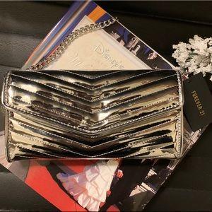 New Silver Metallic handbag